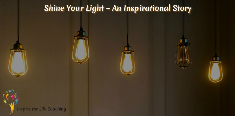 light bulbs shining - shine your light an inspirational story